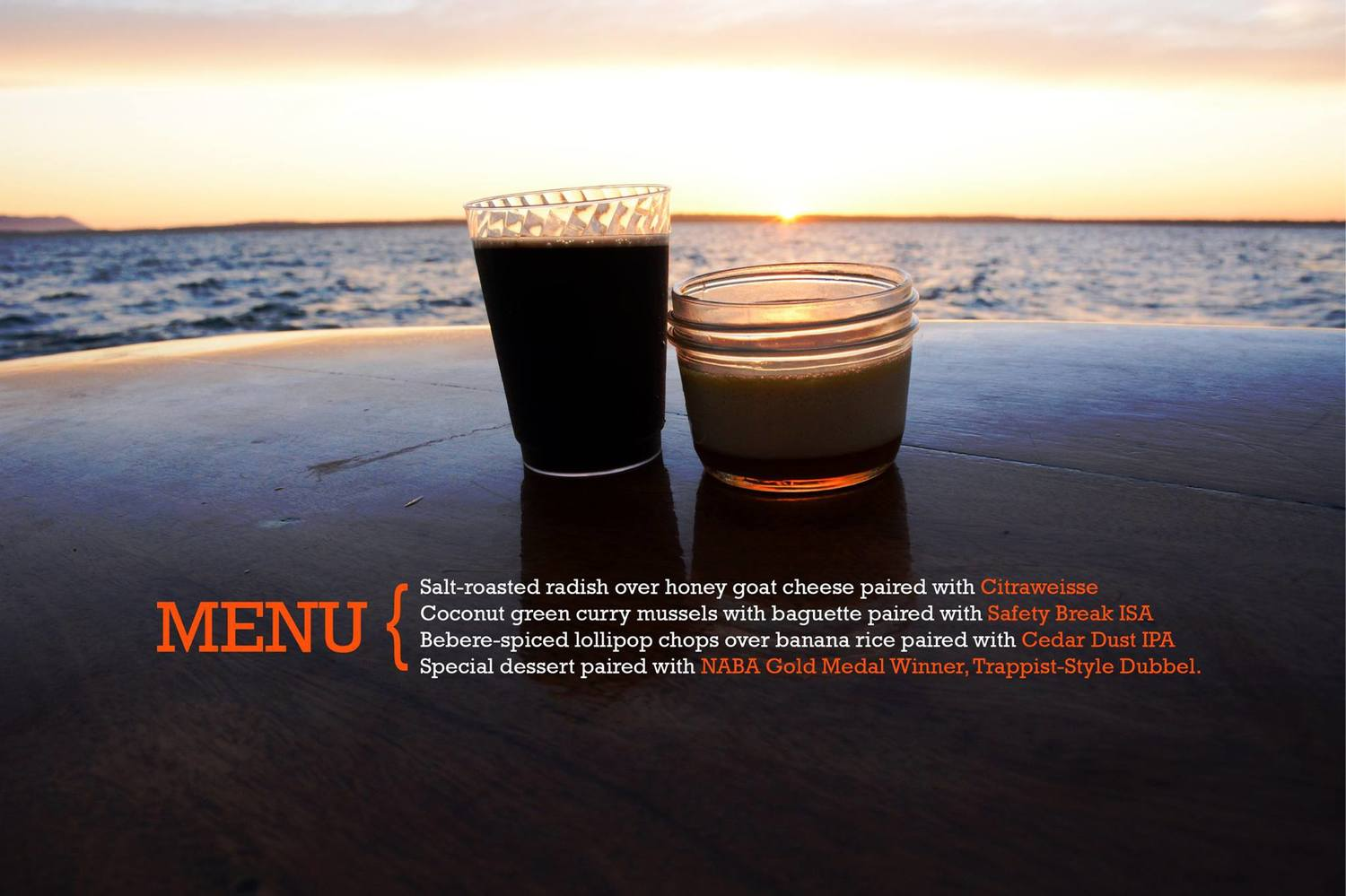 Zodiac Dinner Sail   I worked closely with the staff of the Schooner Zodiac to plan, brand and market a sunset beer pairing cruise. Here is a sample digital ad image I created and promoted online. Sold out in a matter of hours, this was one of Boundary's most viral social media campaigns to date.  More...