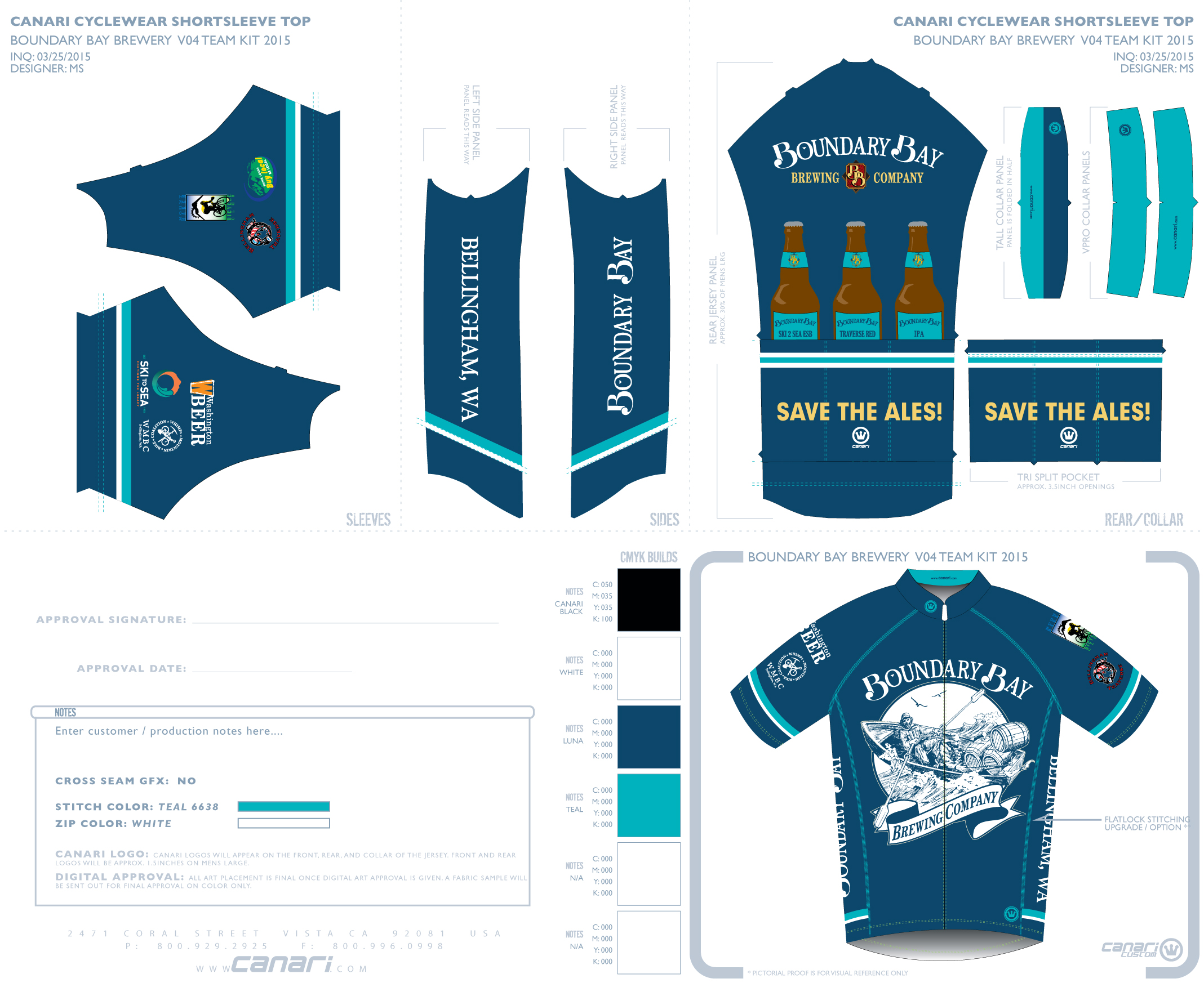 Canari Bike Jersey   Biking is kind of a big deal in Bellingham. Every spring, Boundary Bay releases a custom short-sleeve Canari Cycle jersey for their avid beer-drinking-bikers. Here's the 2015 version.