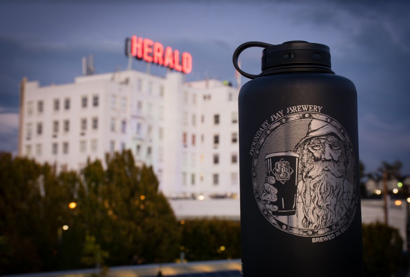 Boundary Bay Insulated Growler   Keep your beers cold (or soup warm!) for days with this double steel-walled, 67oz growler. The perfect sidekick for any adventure! These are a hit at the brewery and come in two different styles.