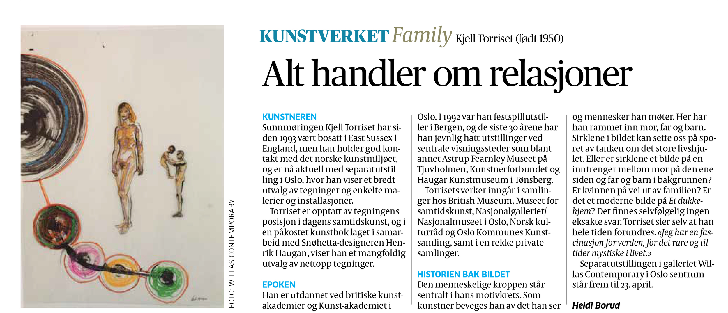 Kjell Torriset in Aftenposten