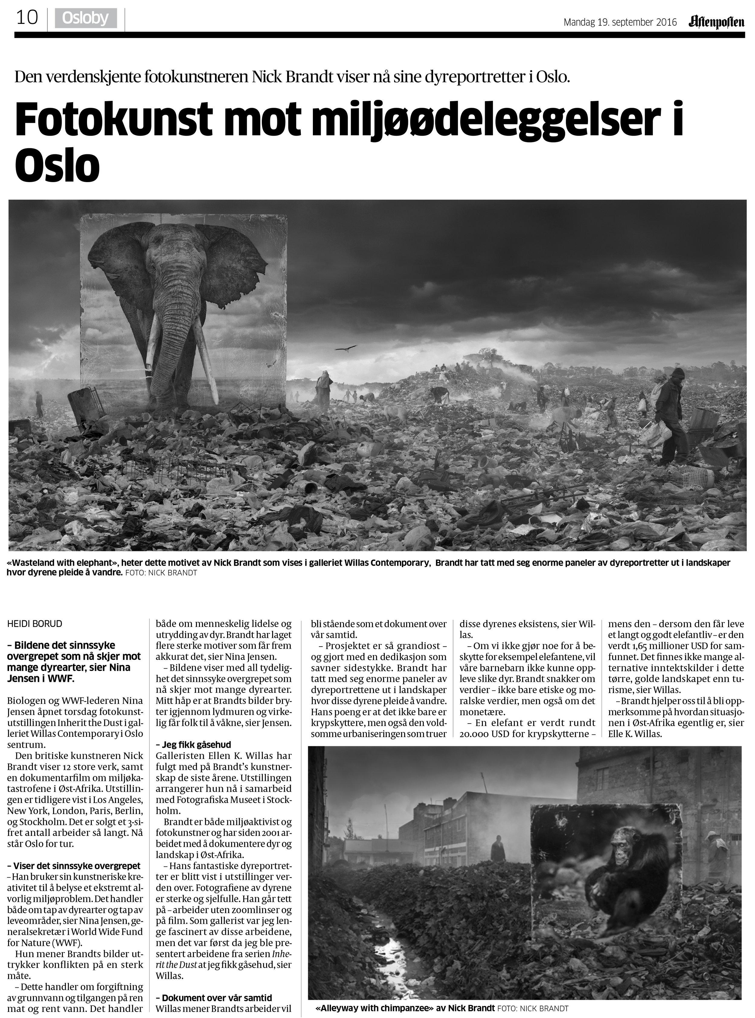 Aftenposten - Nick Brandt