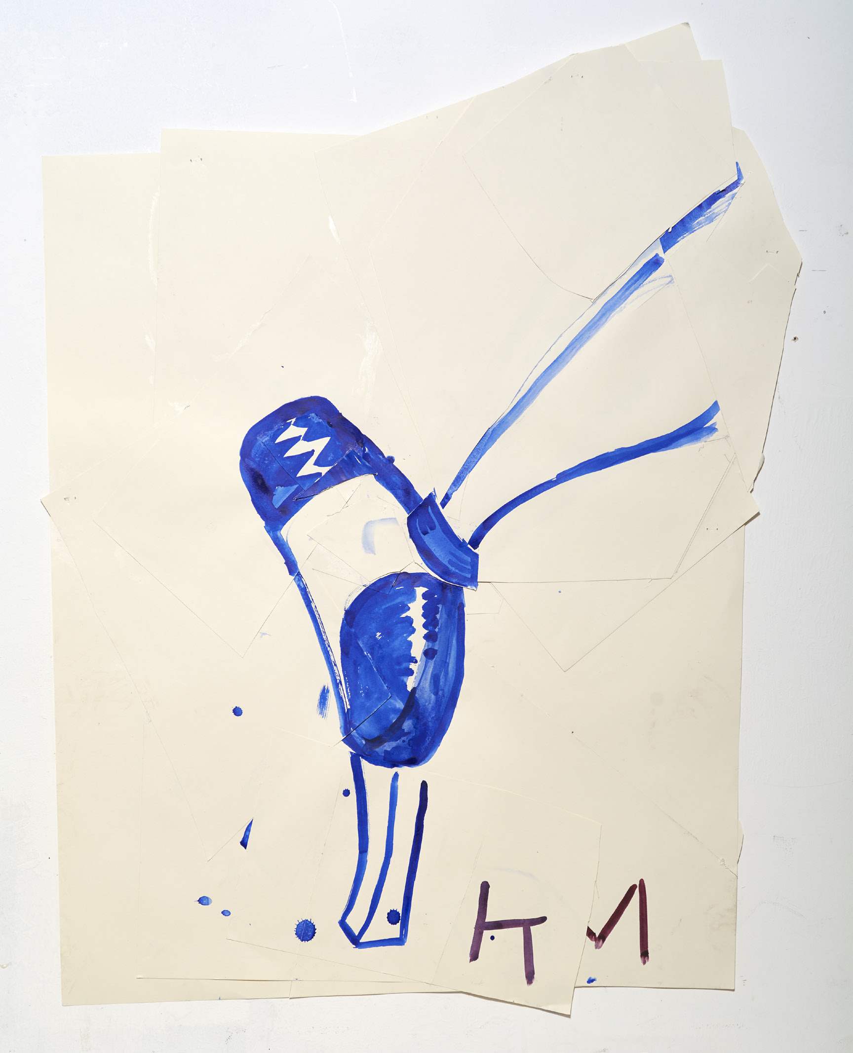 Rose Wylie - Blue Shoe with Shine (KM)