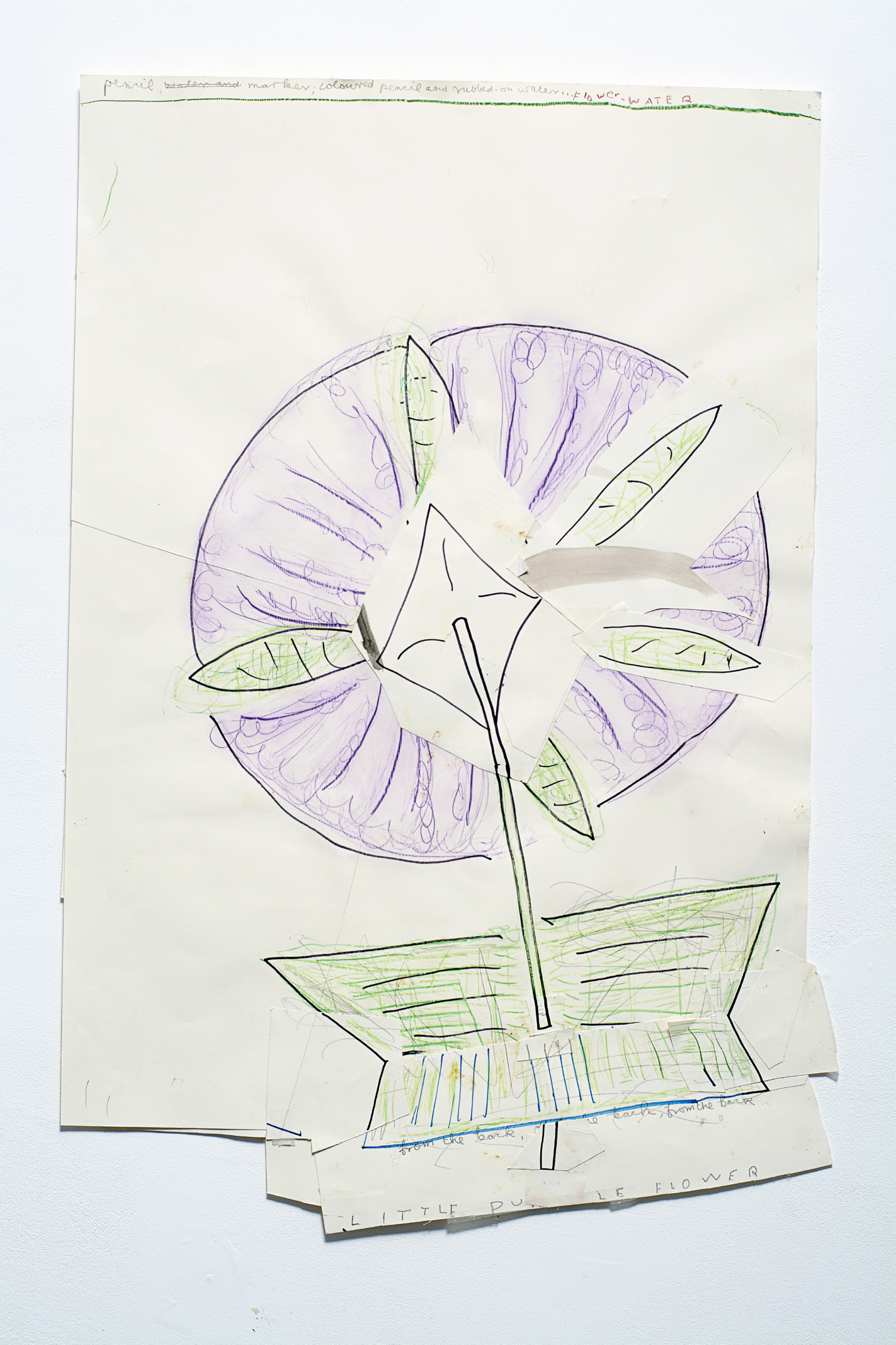 Rose Wylie - Little Mauve Flower