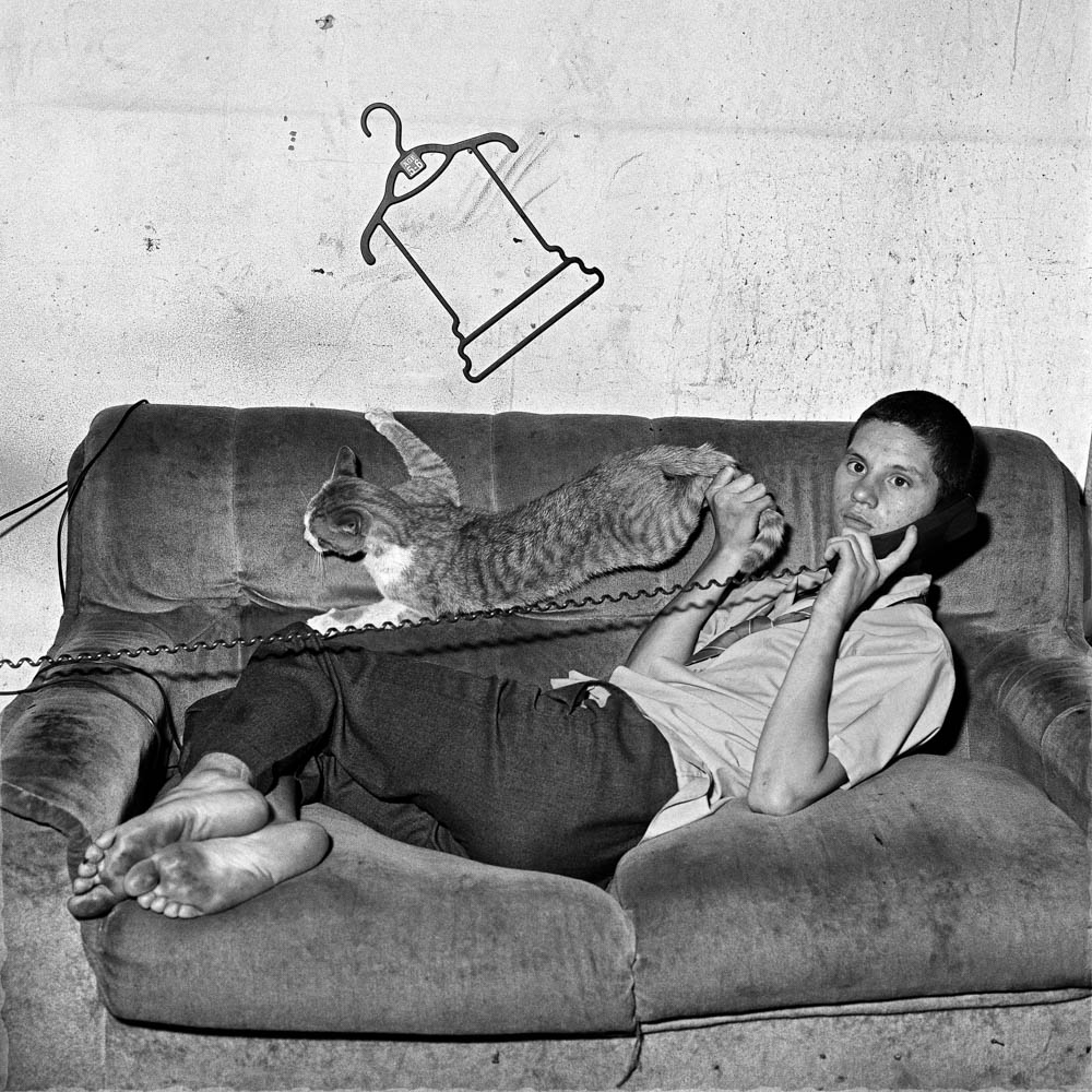 Roger Ballen - Eugene on the Phone, 2000