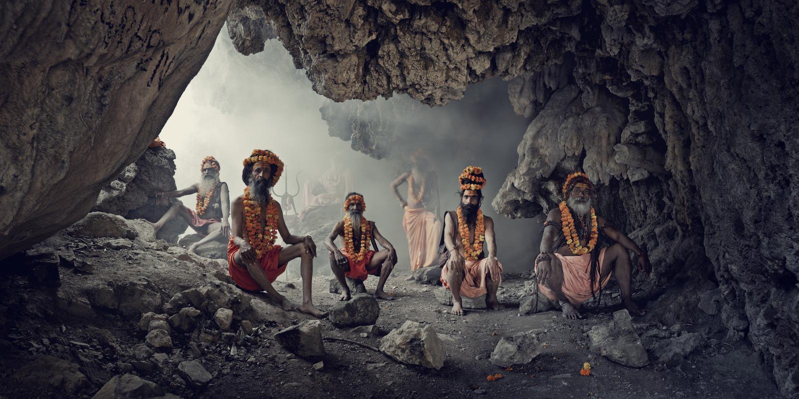 Jimmy Nelson - XXIV 1   Cave, Sadhus,  Haridwar, India, 2016
