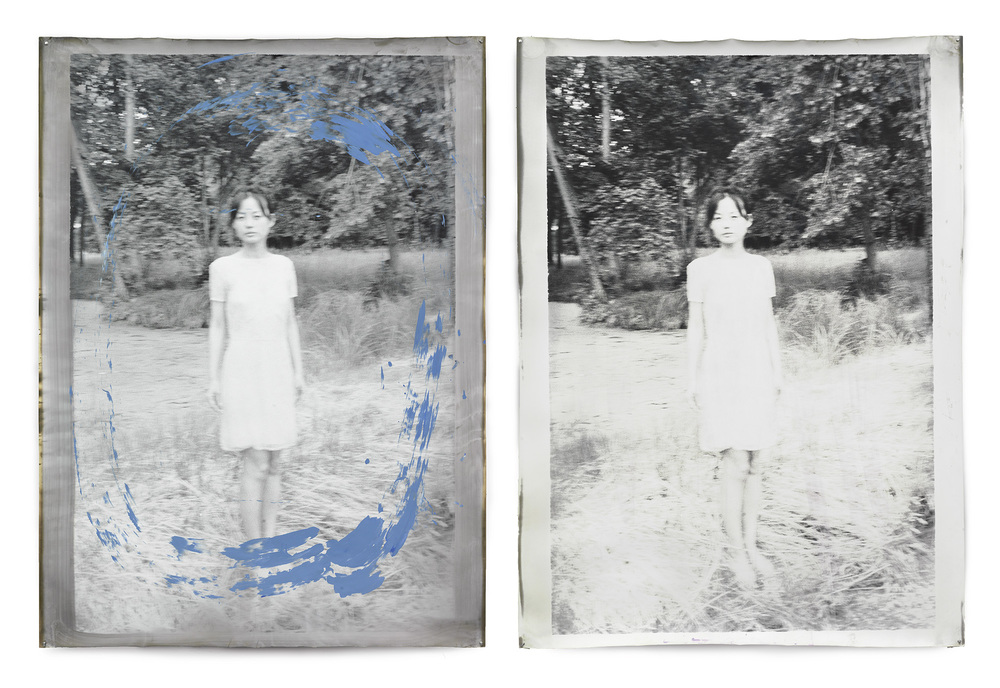 Jeff Cowen   Anonymous Berlin - 2012   Diptych 258x172 cm  Silver Gelatine Print - mixed media - unique piece.   INQUIRE