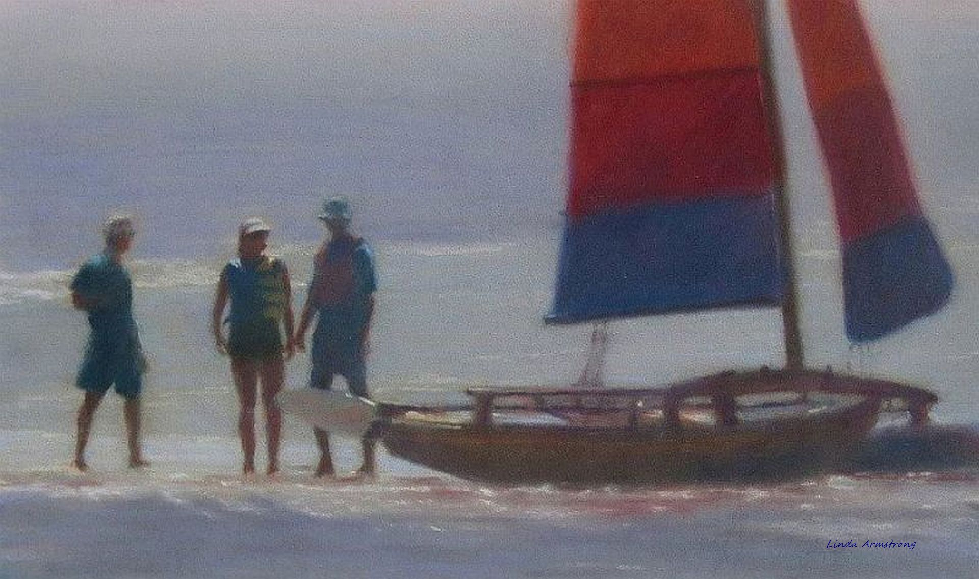 On the Sandbar   Juried into the International Association of Pastel Societies 30th National Exhibition, Albuquerque, NM