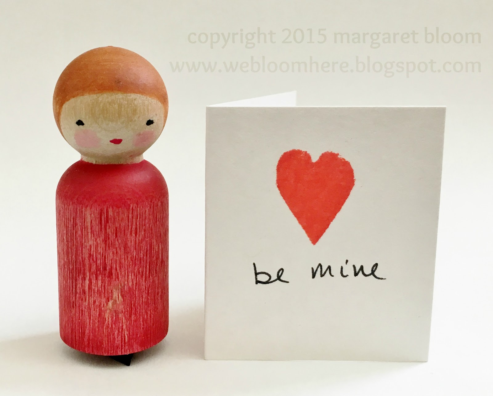 Peg Person Heart Stamp by We Bloom Here