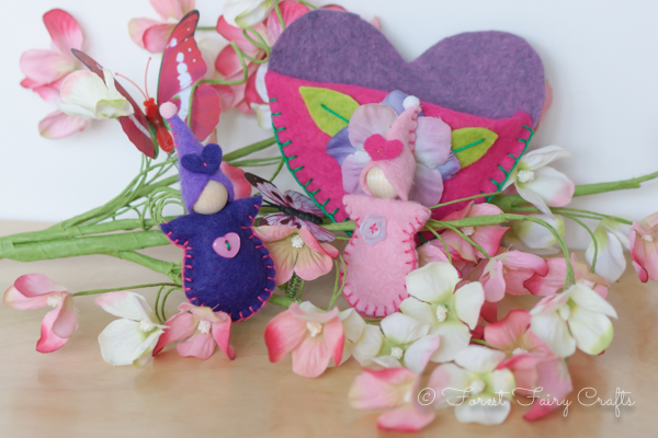 Valentine Fairy Babies by Forest Fairy Crafts