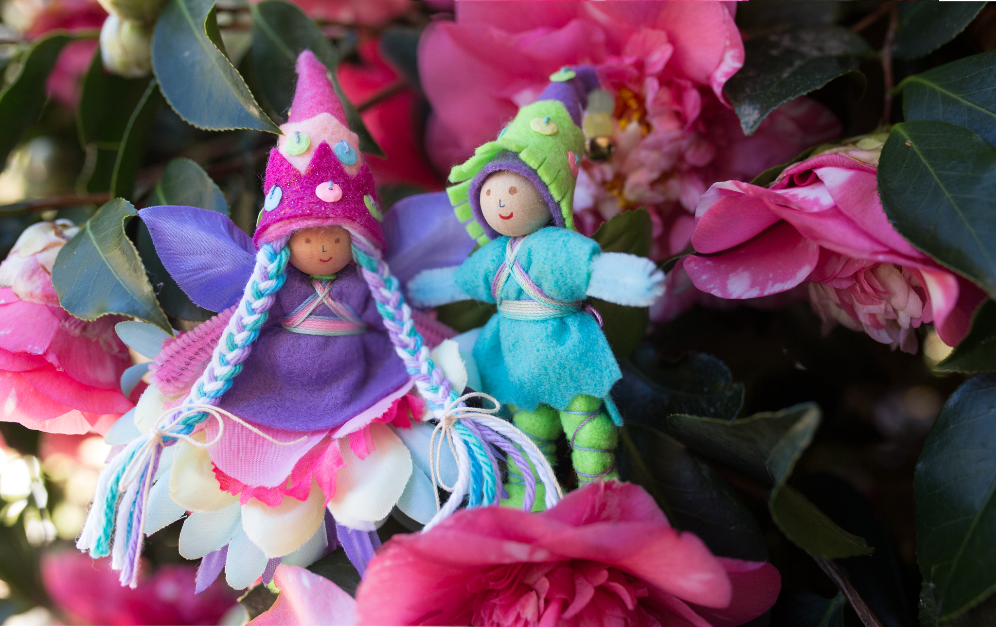 Spring Fairies | Bendy Dolls by Lenka Vodicka for Forest Fairy Crafts