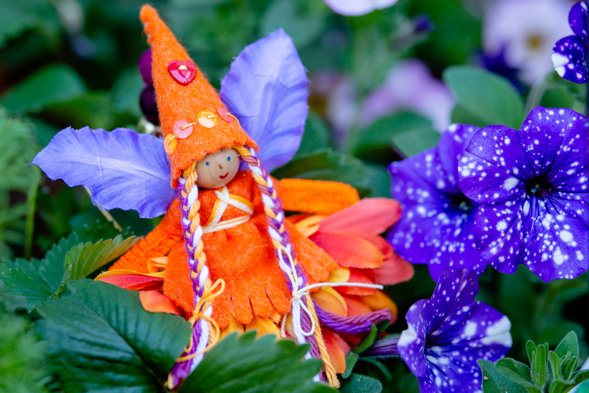 Fairy in Orange for Children | Forest Fairy Crafts bendy doll