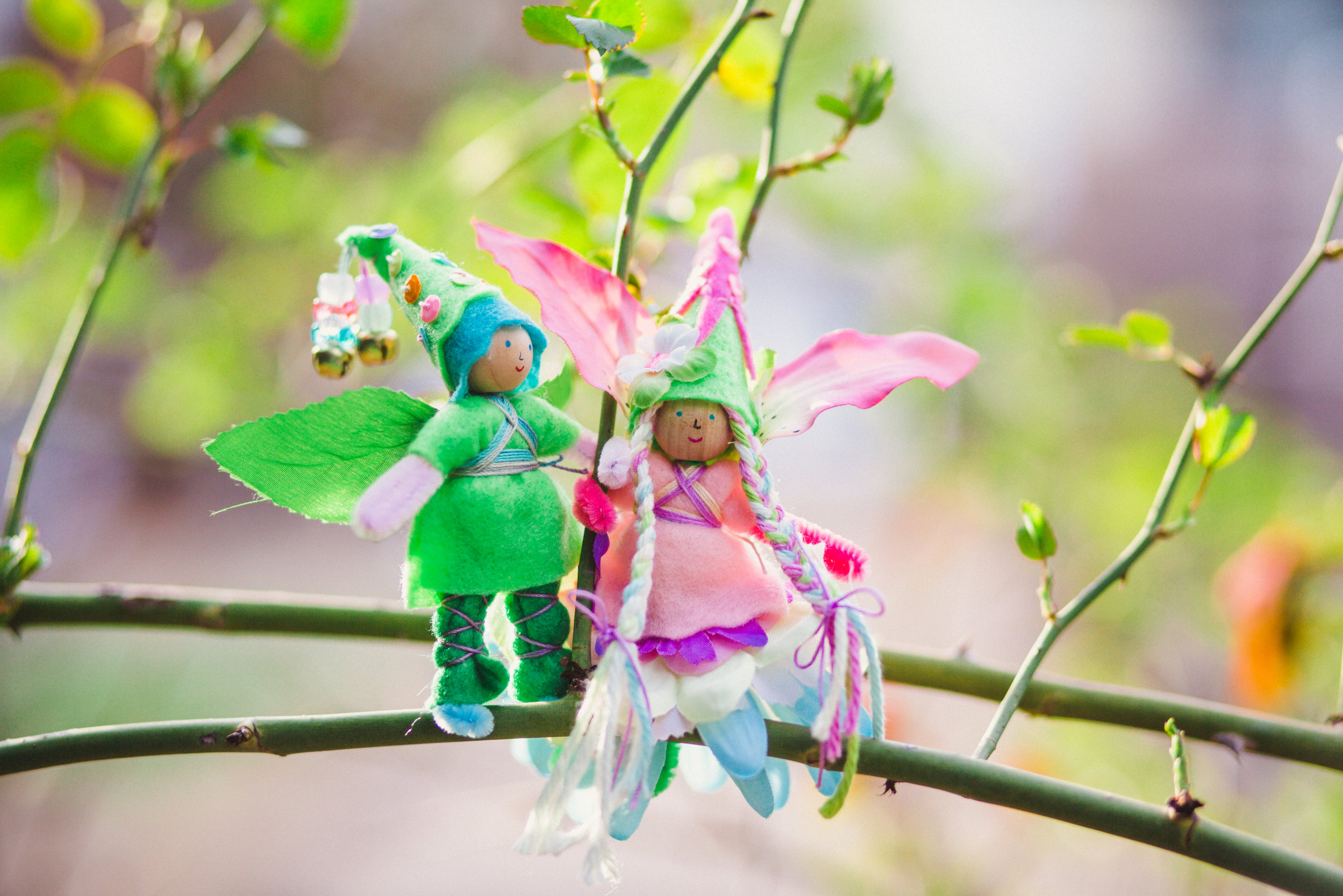Fairy Bendy Doll for Spring | Learn to make your own enchanted crafts with simple supplies with the Forest Fairy Craft books by Lenka Vodicka-Paredes and Asia Currie