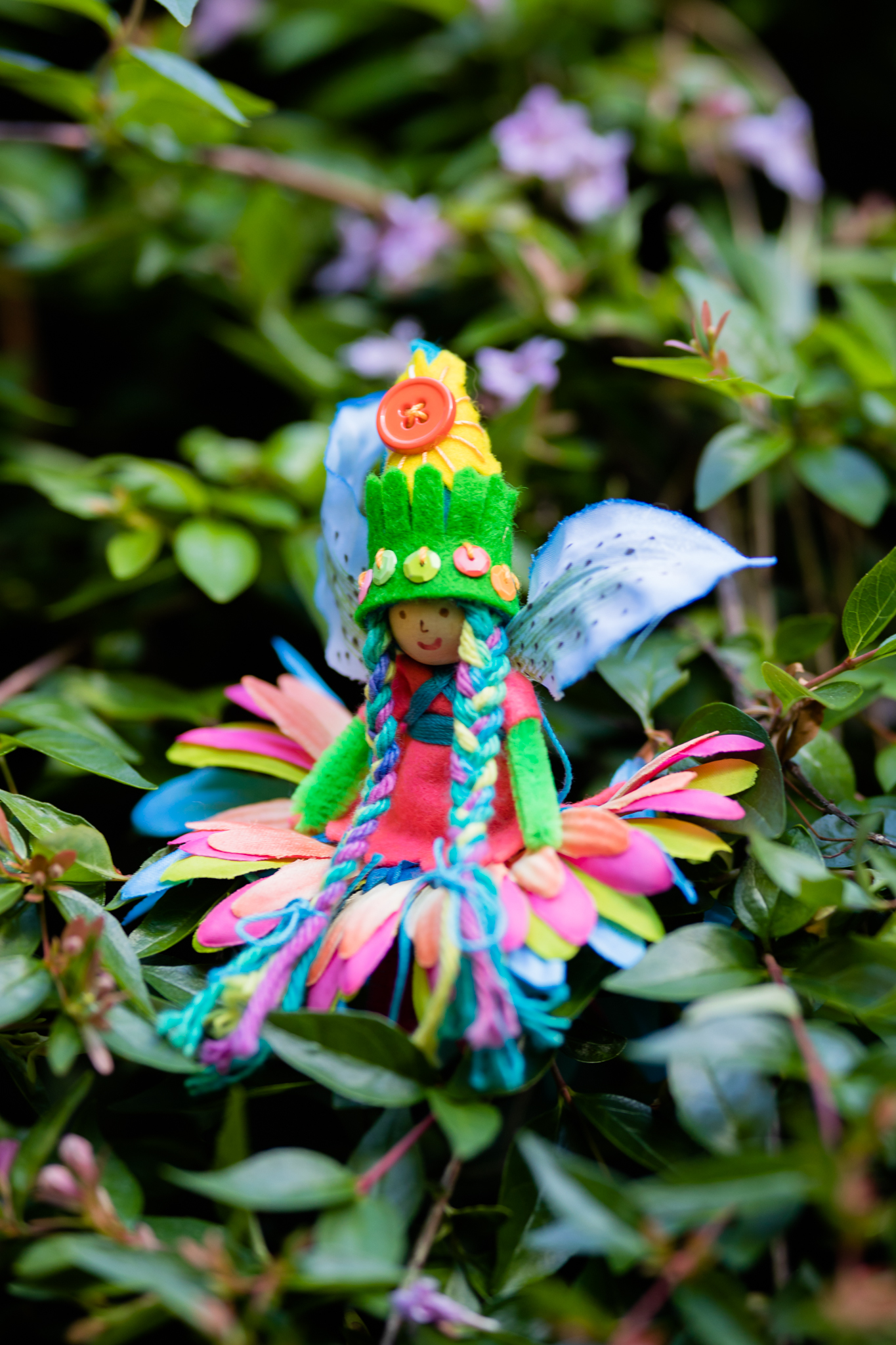 Summer Fairy Doll made with Magical Forest Fairy Crafts through the Seasons book by Lenka Vodicka-Paredes and Asia Currie | Charming and playful crafts for children