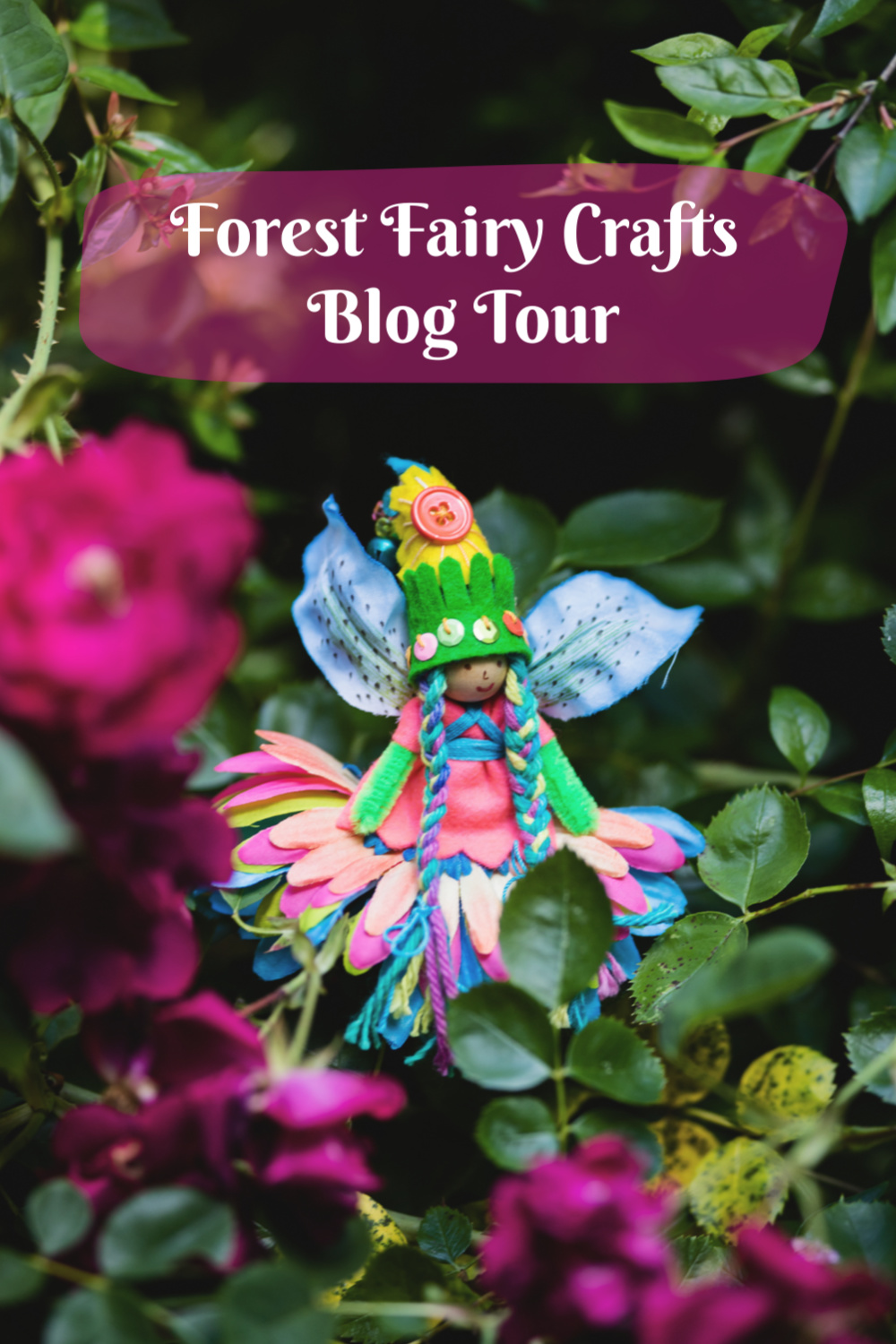 Summer Blog Tour for Magical Forest Fairy Crafts through the Seasons sewing with children