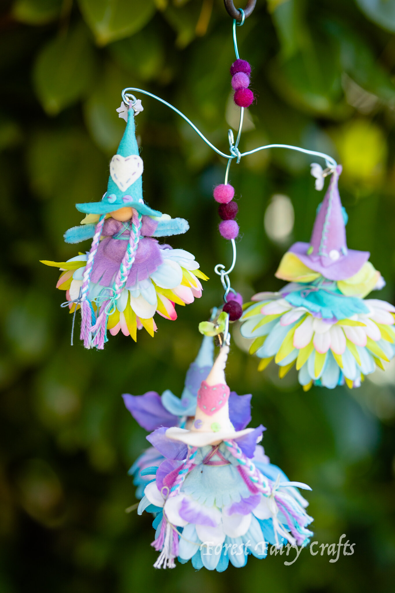 Fairy witch | Directions are in the Forest Fairy Crafts book by Lenka Vodicka-Paredes and Asia Currie | Bendy dolls for children | Waldorf and natural crafts teaching sewing and handwork