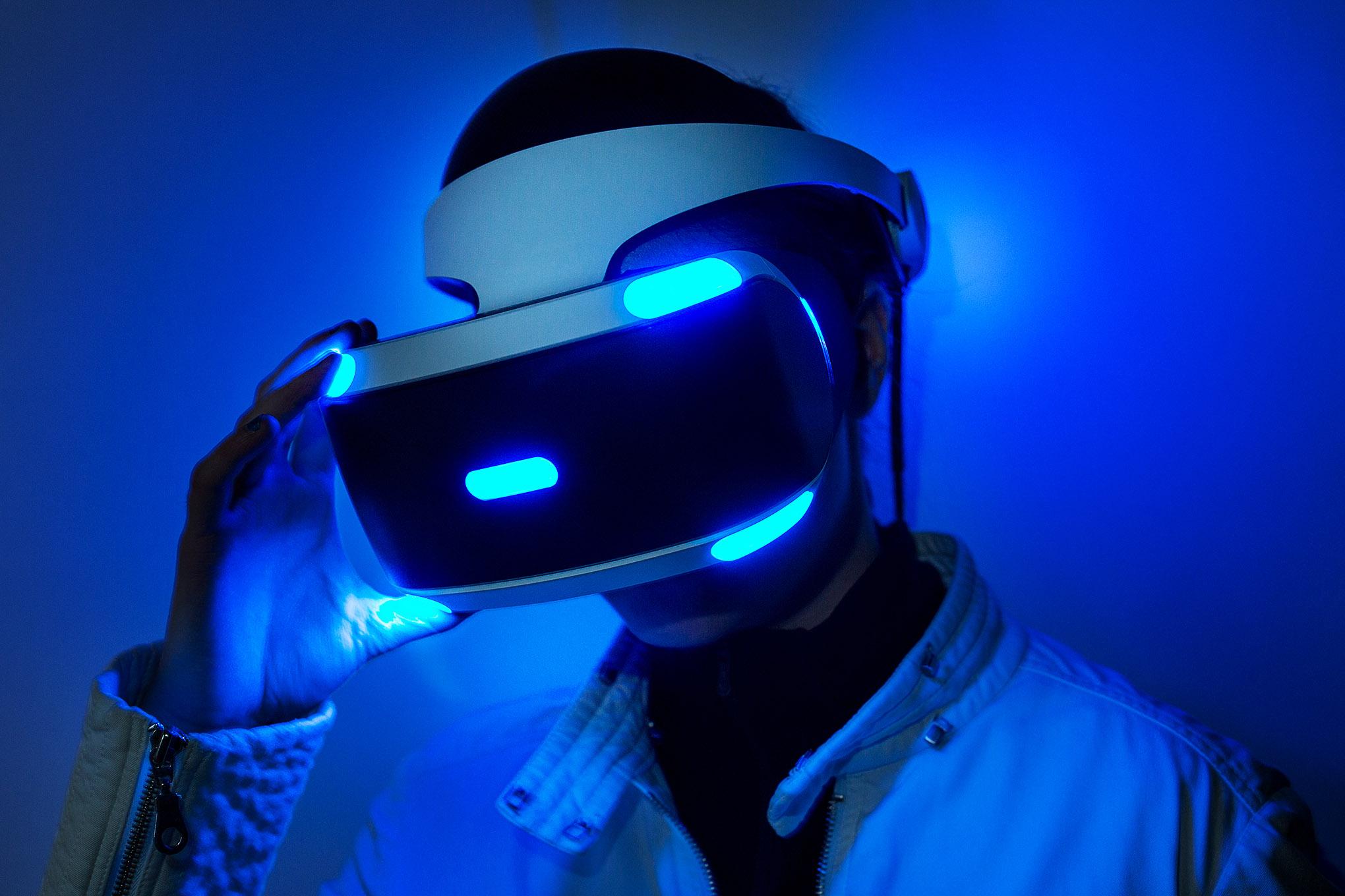 Playstation VR in use.https://movietvtechgeeks.com