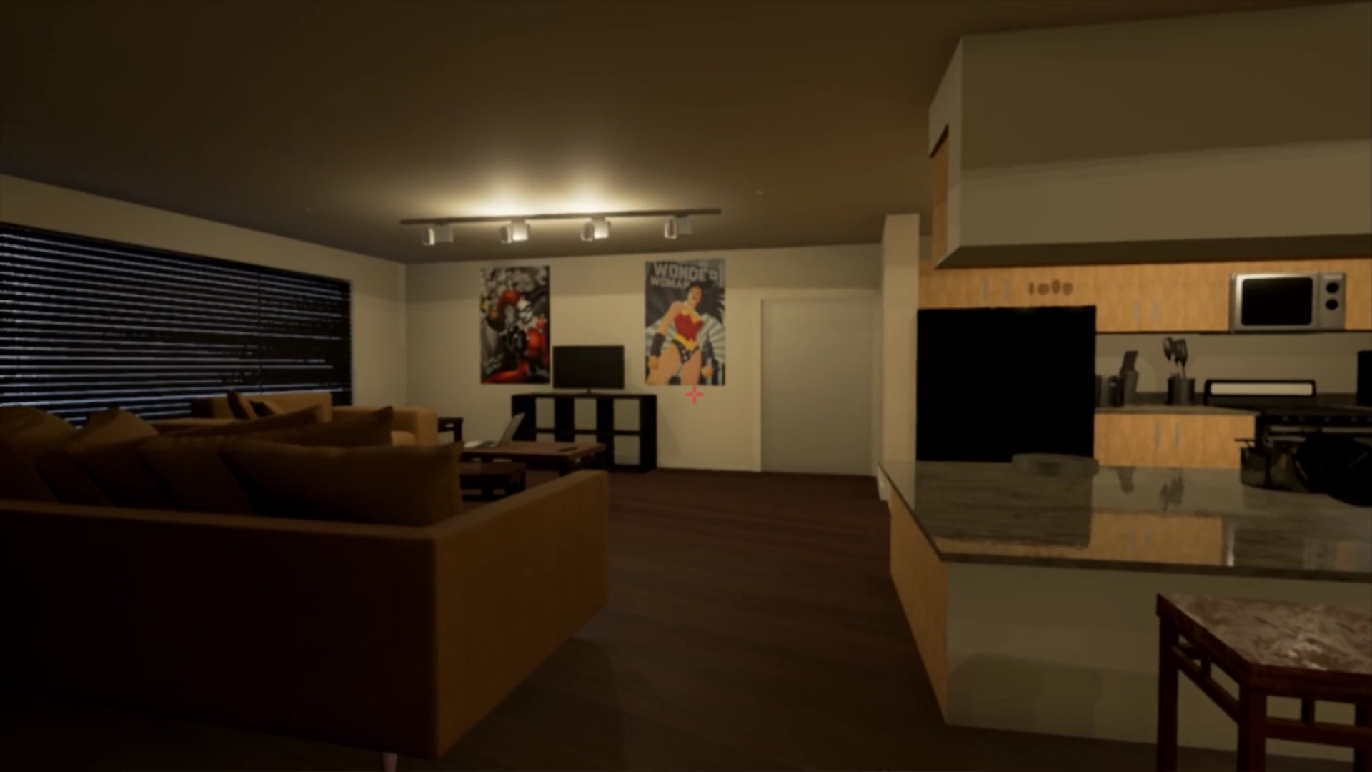 Apartment1: A model of an apartment and one of NovaKitten's very first projects in Unreal.