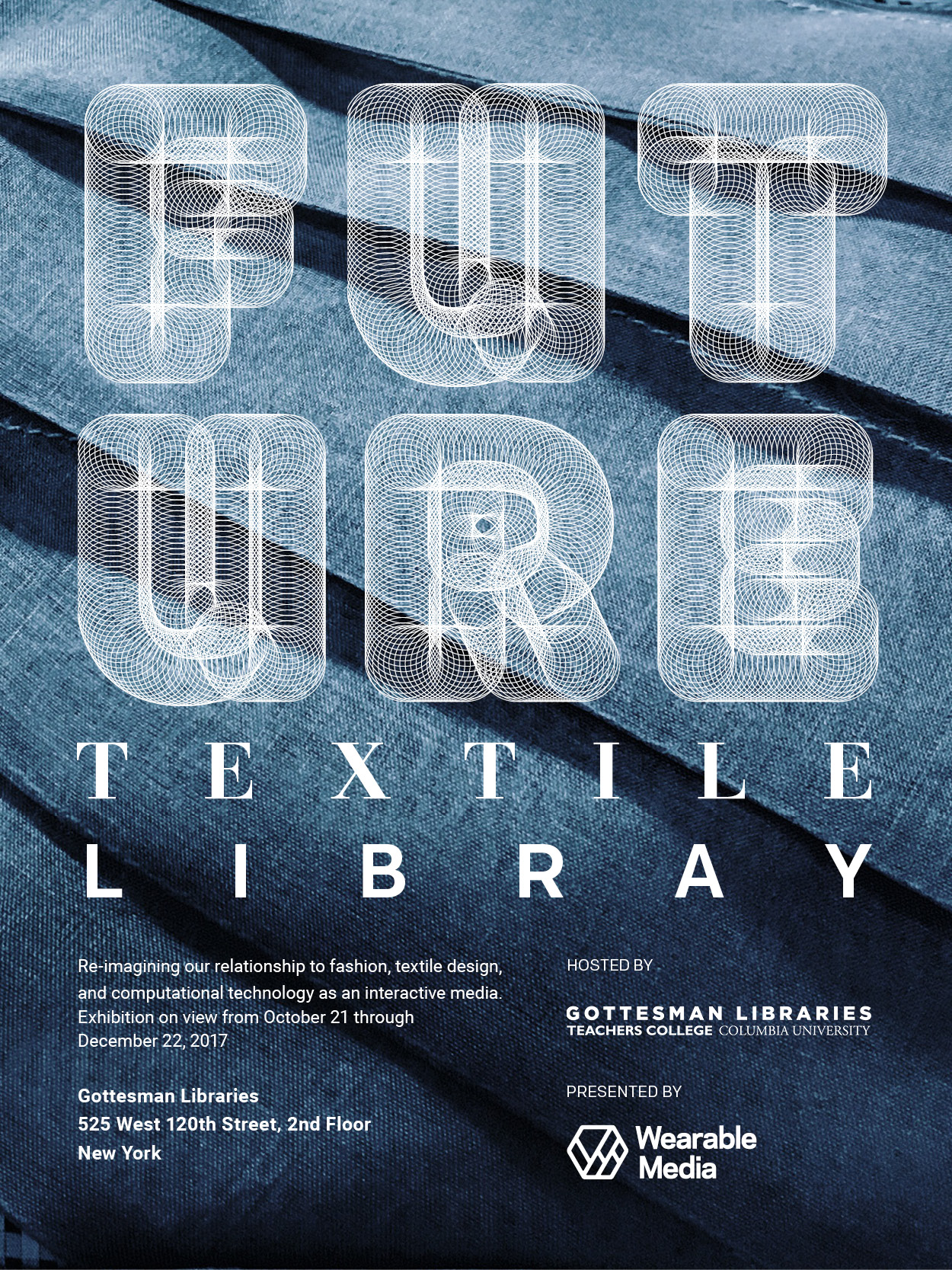 November S Must See E Textile Event Future Textiles Library Ray Fontaine Create Collaborate