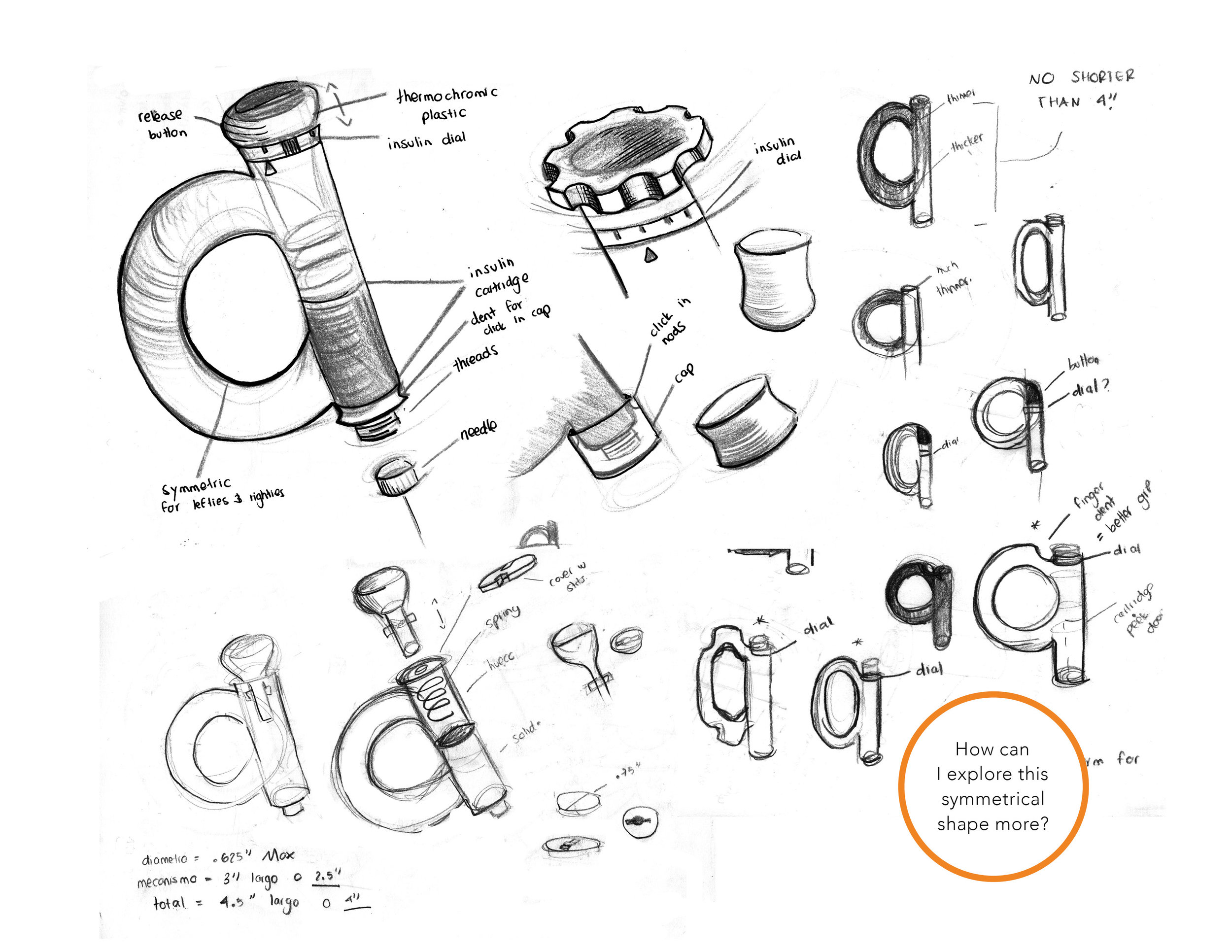 Ideation of Thomy Insulin Pen