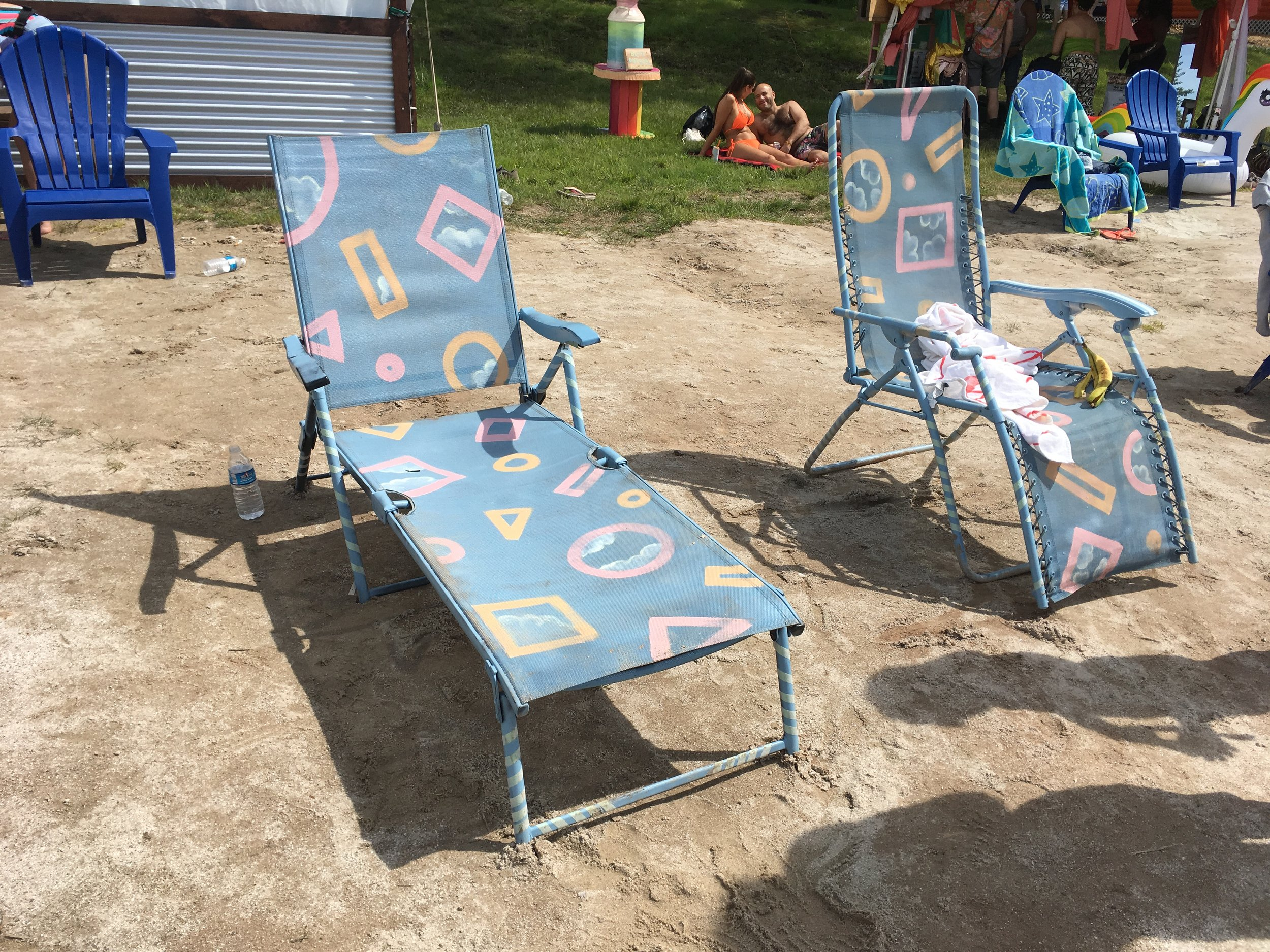 Water Stage Hand Painted Seating for Unicorn Lounge