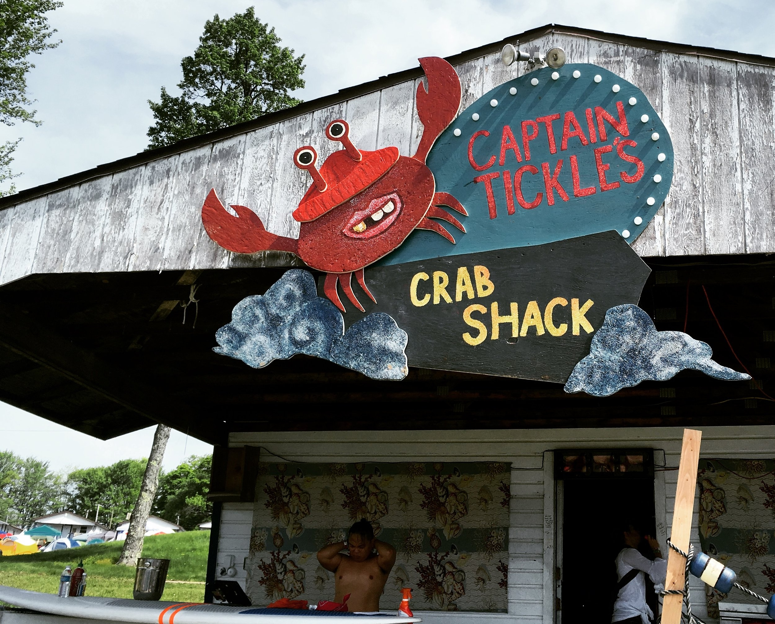 Captain Tickle's Crab Shack Sign for Water Stage