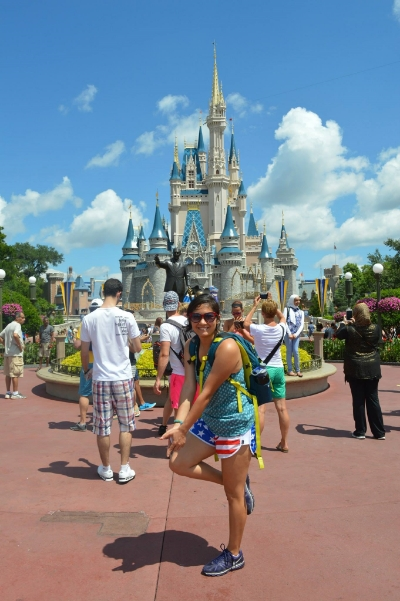 Whooping at Magic Kingdom in August 2014.