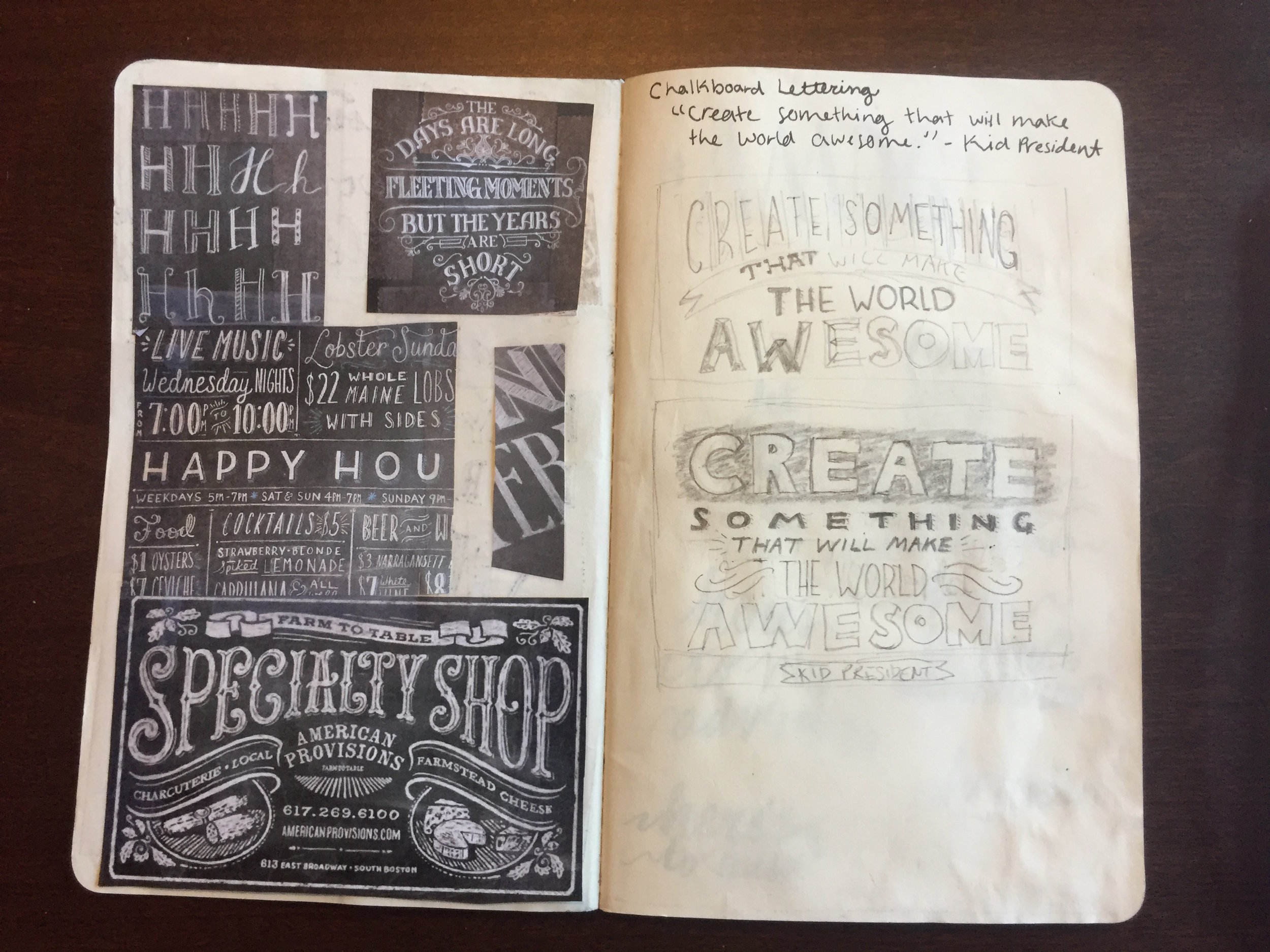Inspiration and initial sketches