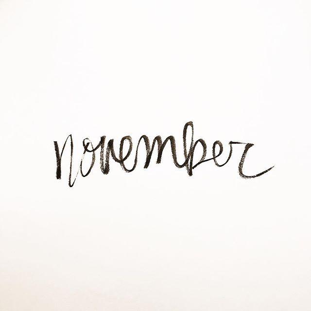 The best month of all 🧡  #handlettering #brushlettering #typography #handwritten #lettering #brushpen #november