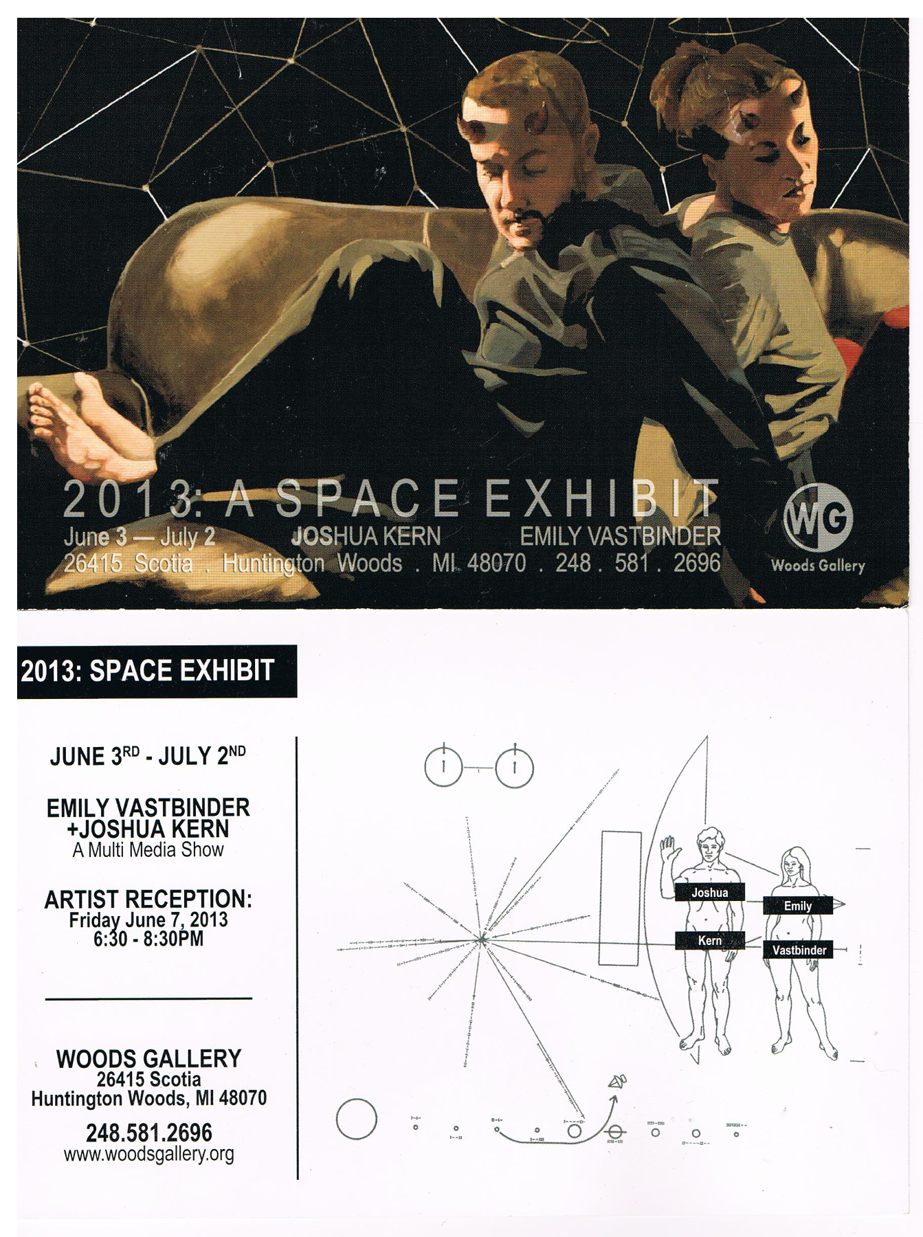 2013: A Space Exhibit , at the Woods Gallery, Huntington Woods MI