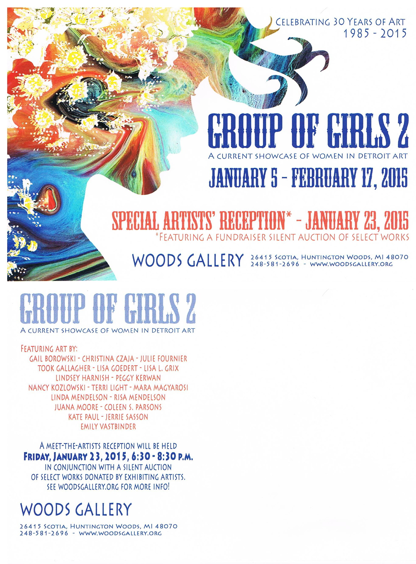 Group of Girls 2 , 2015, at the Woods Gallery, Huntington Woods MI