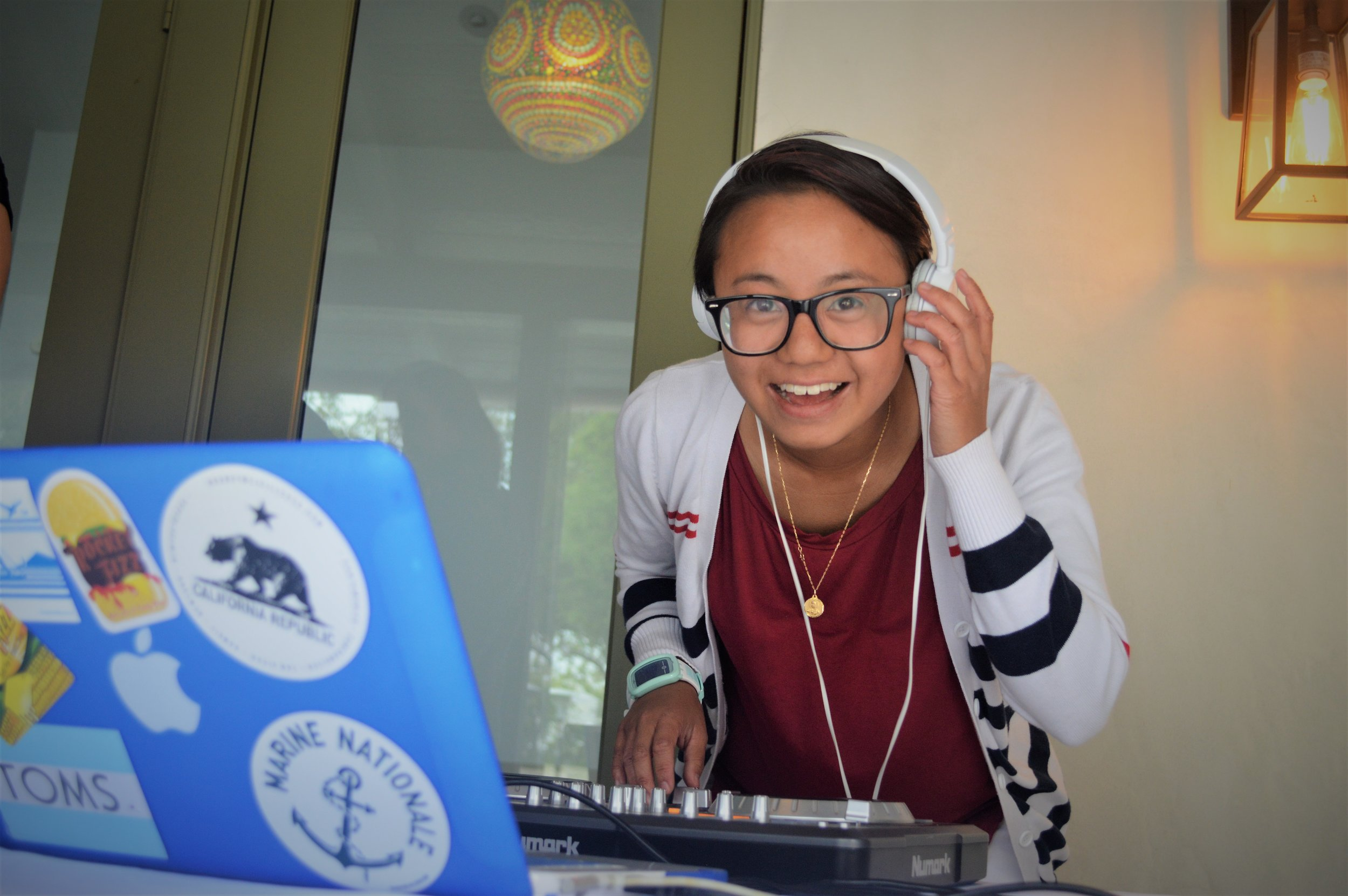 Westfield resident Marie was the party DJ