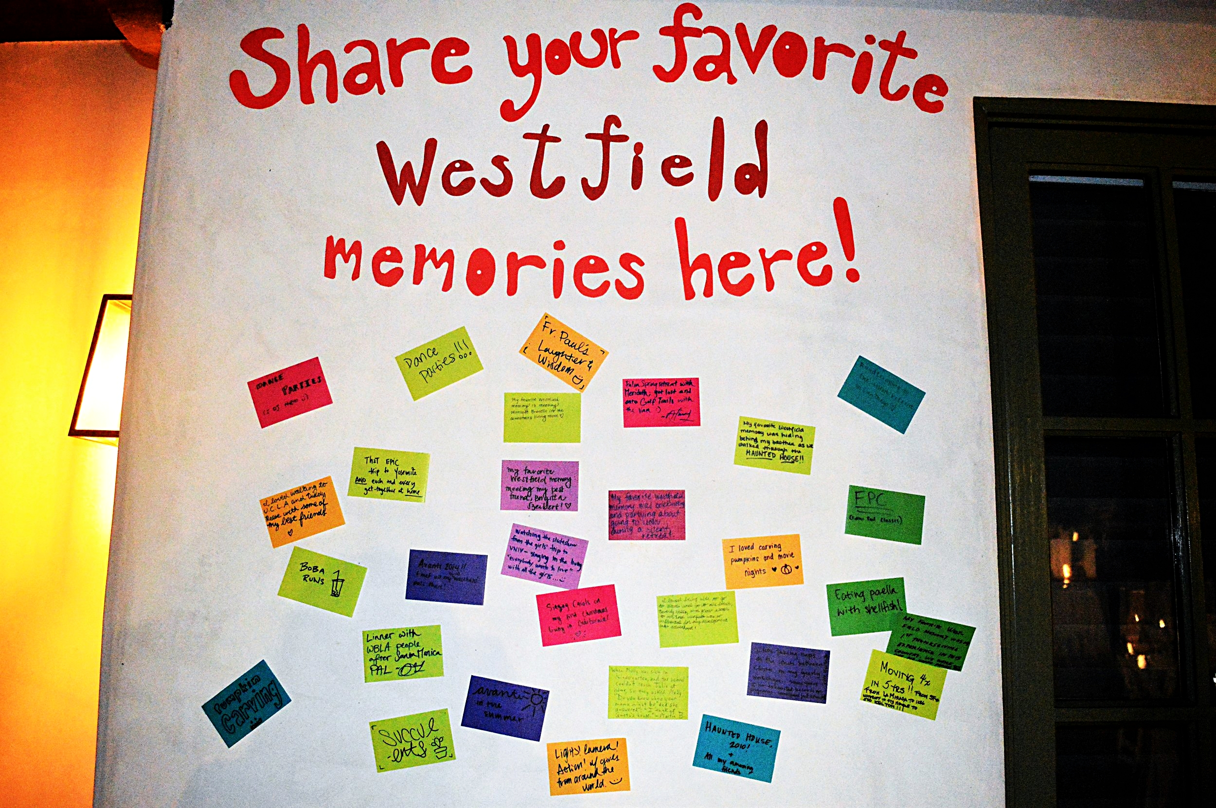 The Westfield Wall of Memories