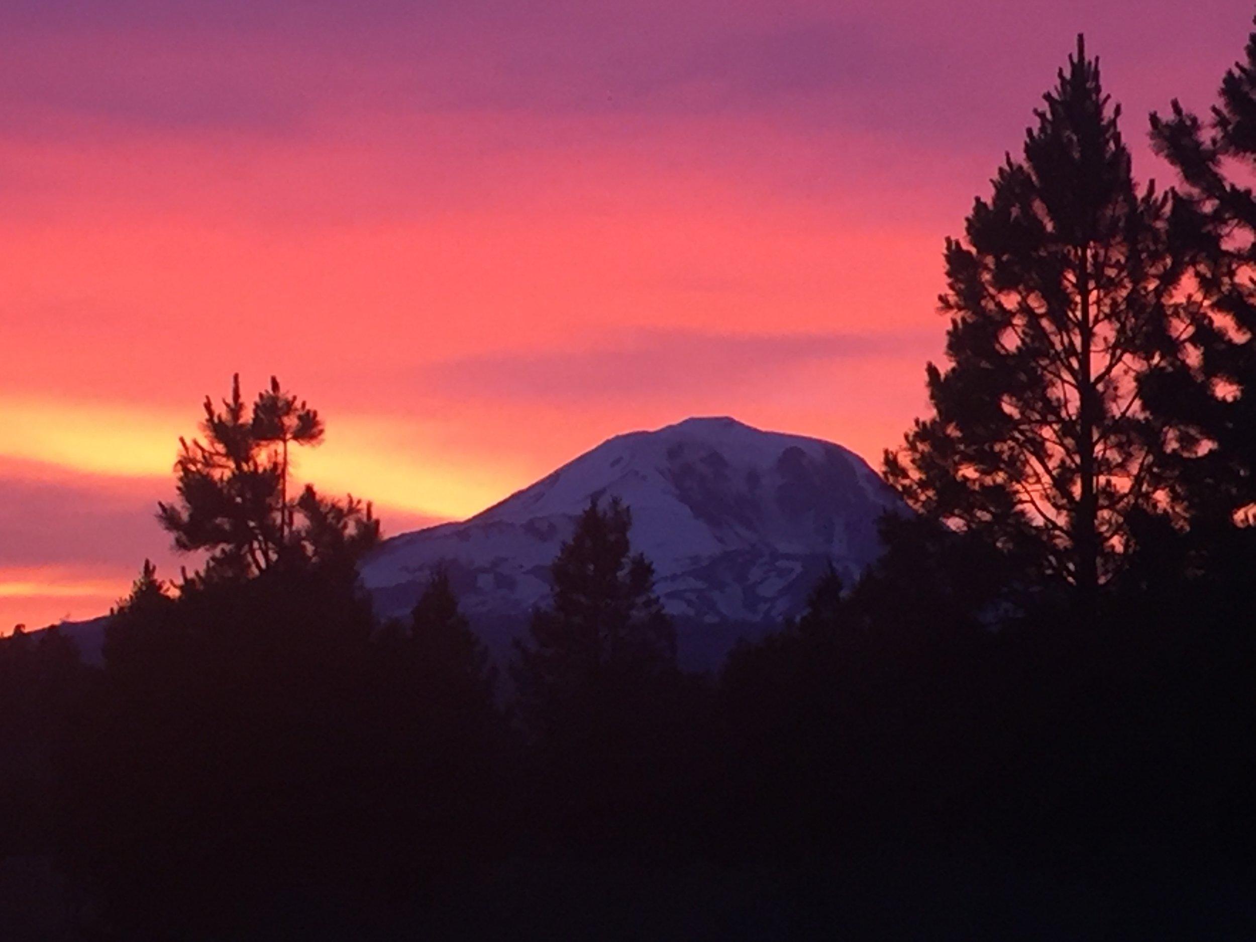 Sunset on Mt. Adams - Tom Pierson