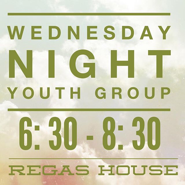 Reminder we start youth group up this Wednesday! Excited to have ya'll back!