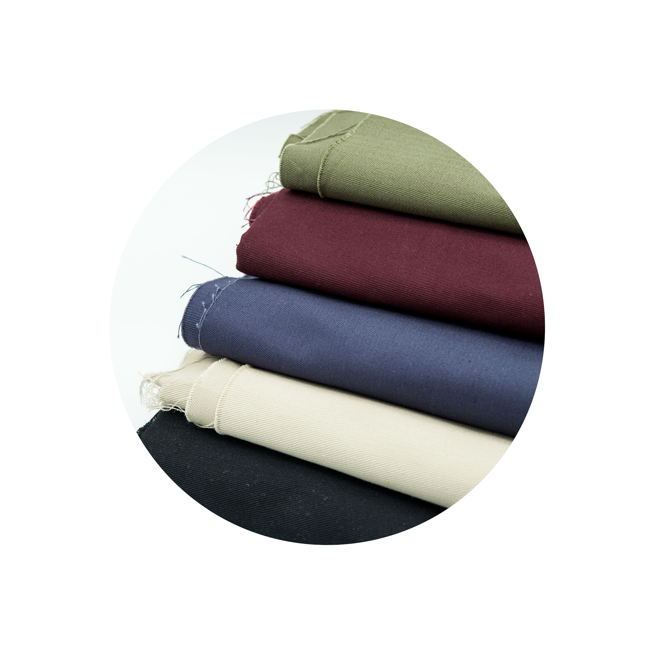 Organic Cotton Twill - Deadstock, leftover, and reject fabrics sourced from curtain manufacturers.