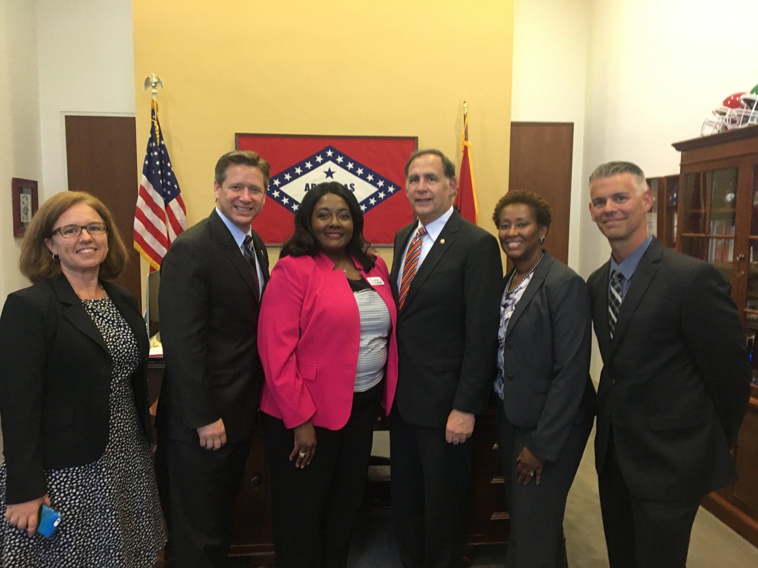 Home visiting model leaders meet with Senator Boozman at his office in Washington, D.C.