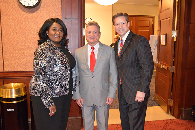 Rep. Carter (middle) alongside Prevent Child Abuse America CEO Dan Duffy (left) and HIPPY Executive Director Stacy Croom-Raley
