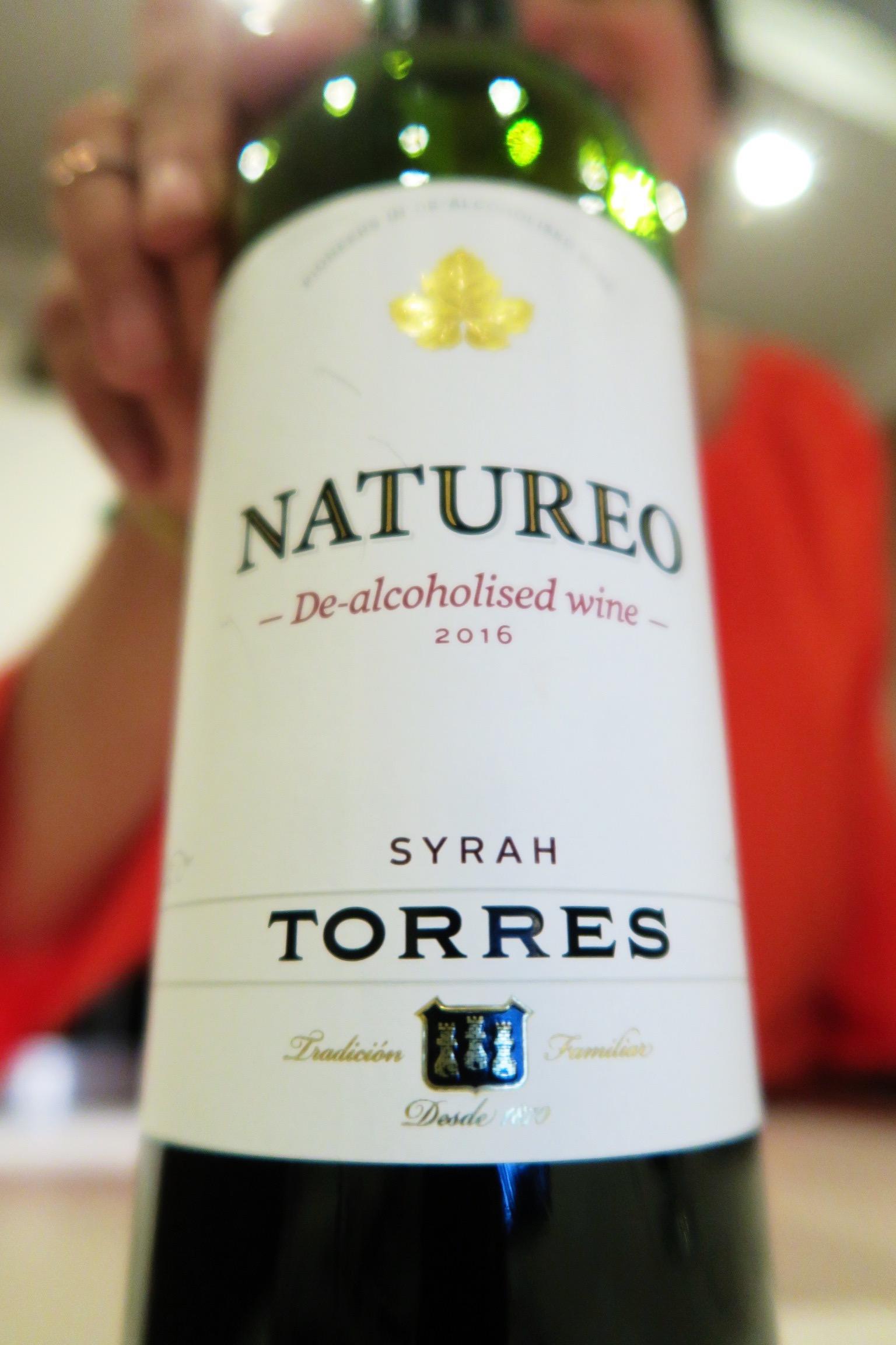 My 'red' of choice, Torres Natureo De-Alcoholised Syrah, £6.99 at Waitrose.