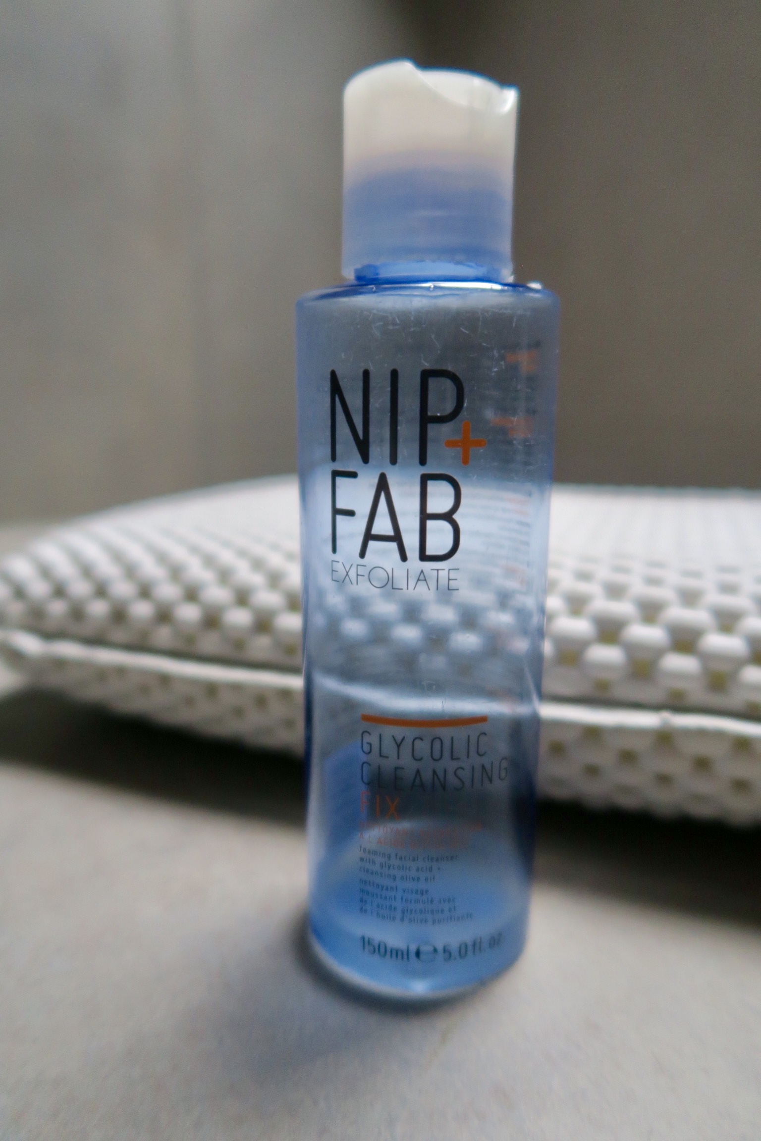 A near empty (I use it a lot) Nip + Fab Glycolic Cleansing Fix, £7.95 at Boots.