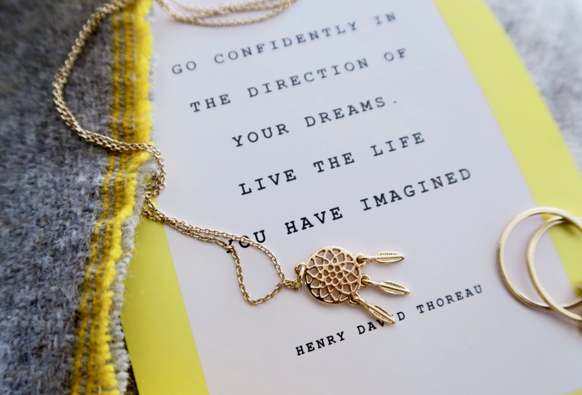 The 'feathers' of this dream catcher pendant move on wearing. £3.99 from H&M.