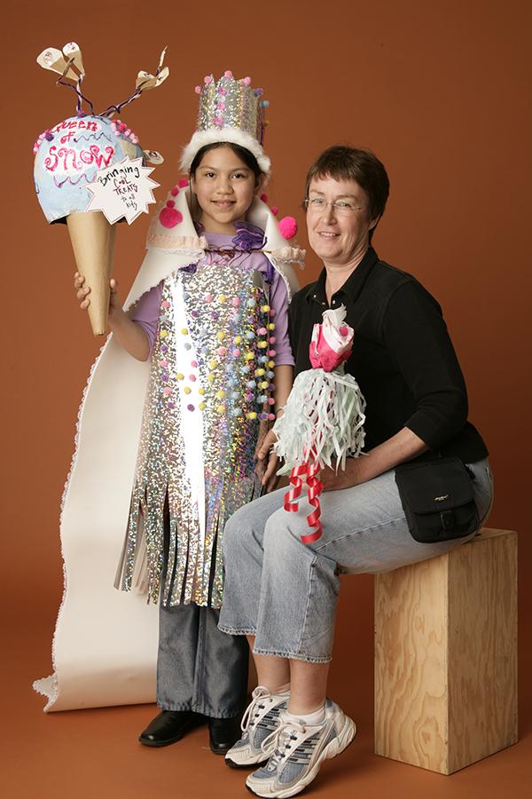 Adriana with her Art Buddy Sue Shepherd (2005).