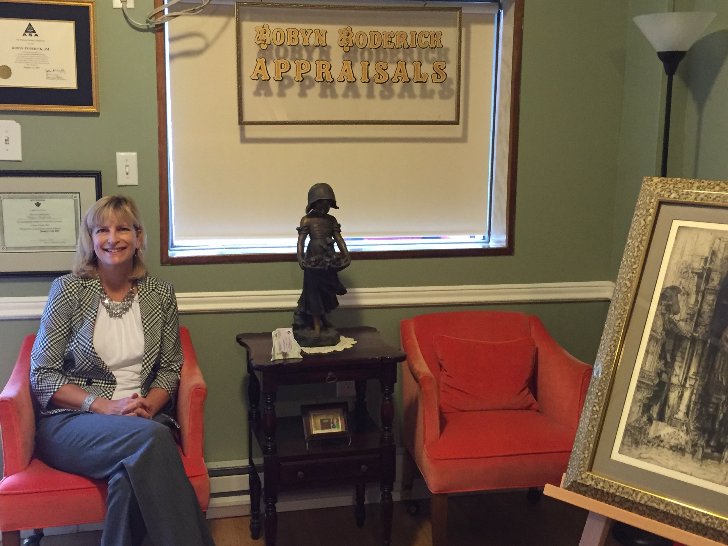 Robyn Roderick in her Swarthmore office