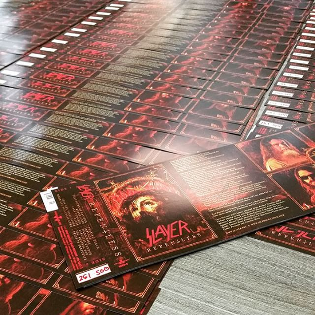 Nuclear Blast Records have started hand numbering all 500 SLAYER #Repentless cassettes. Did you order yours yet?  Available at http://www.slayer.net/repentless.