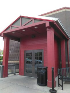 Repaired and painted the exterior entrance of a Longhorn Steakhouse.