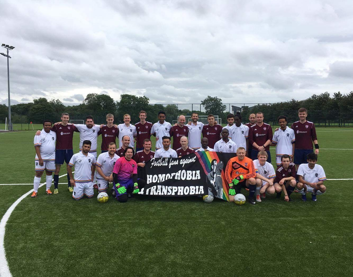 Great to play Hotscots again - Football For All, Football Against Homophobia!