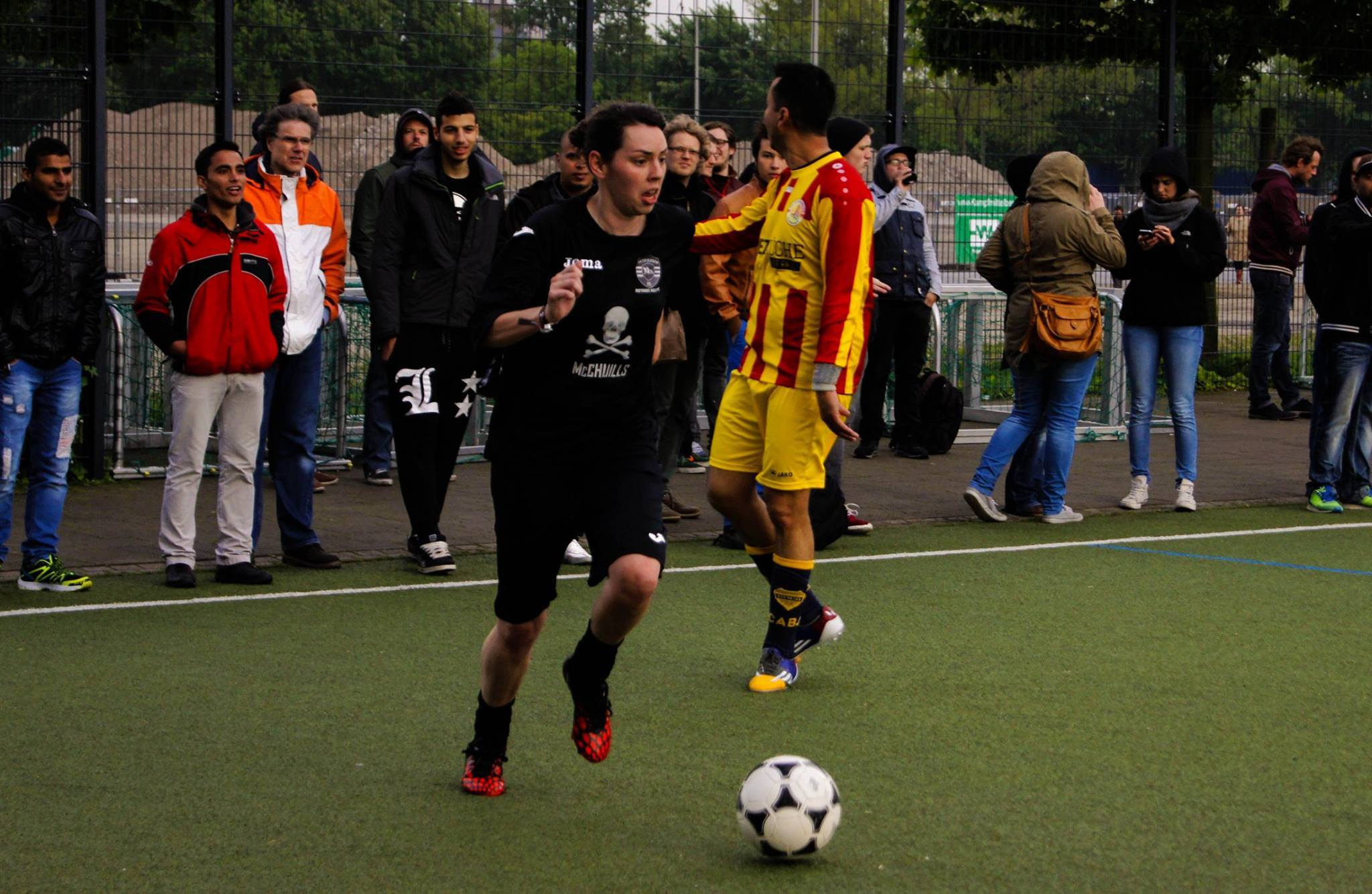 Playing against FC Lampedusa St Pauli in Hamburg in May 2015.