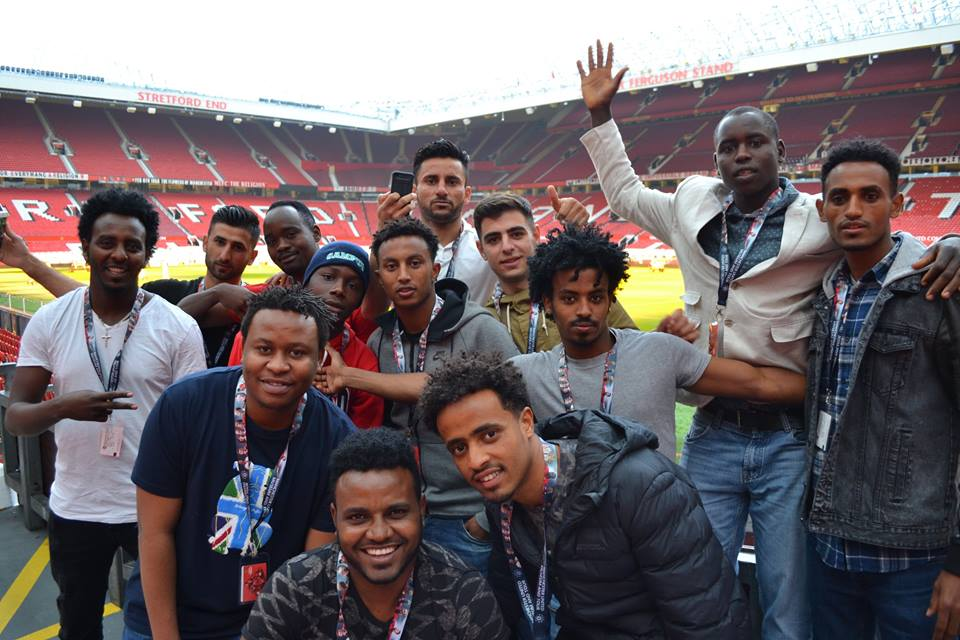 Some of the guys enjoying a trip to Manchester in 2016!