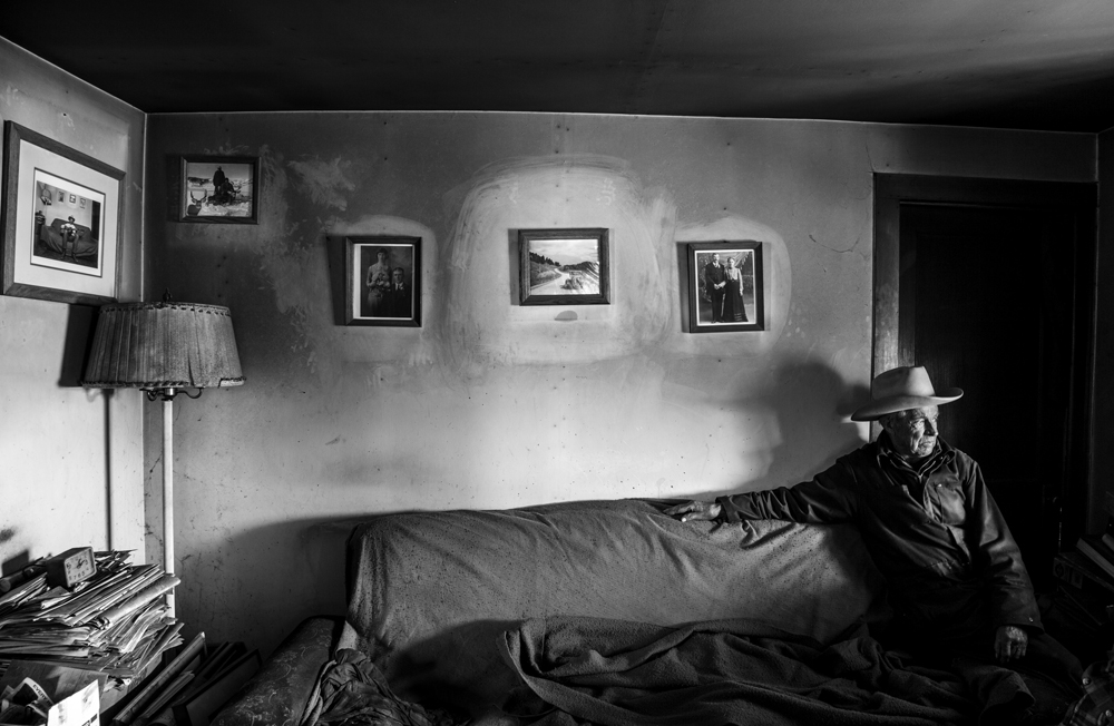 John in his livingroom