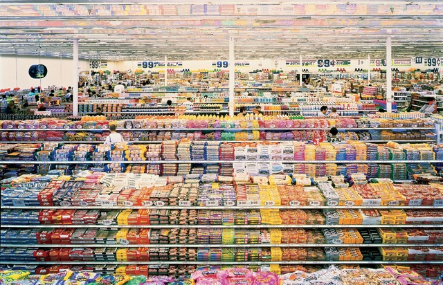 Andreas Gursky.  99 Cent , 1999.San Francisco Museum of Modern Art (SFMOMA), San Francisco