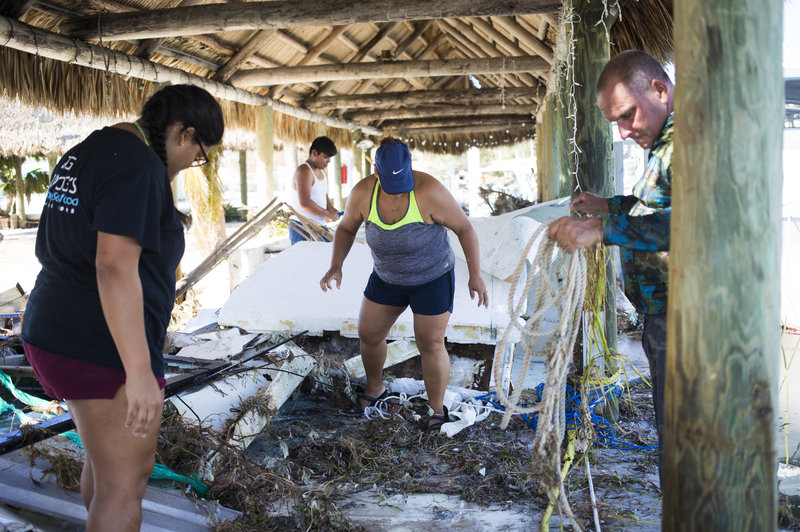 Victims of Hurricane Irma pick up the remains of their family business, but did they have any choice in their lives being photographed for the view of others?